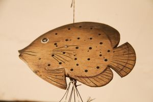 Hanging Wooden Fish by feureau