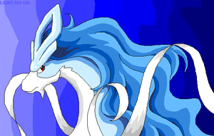 Suicune - pixel art - shiny by TheLegendaryThree