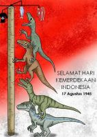 Raptor Squad : Special Independence of Indonesia by Rizzysaur