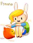 adventure time fionna by greenflake2253