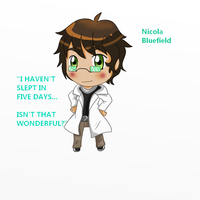 Godshell chibi Scientist by Alaskaair
