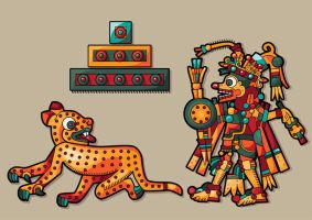 Lepard and Mayan man by Vikasuperstar
