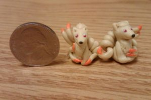 Ninetales Earrings by nemuineko85