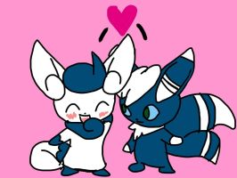 Meowstic love by alucardserasfangirl