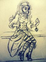 Steampunk girl by momentaifey
