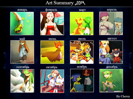 Art Summary 2014. by Cheroy