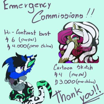 Emergency Commissions by Sinx-Pancake