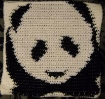 Panda pillow by CtrlAltTabby
