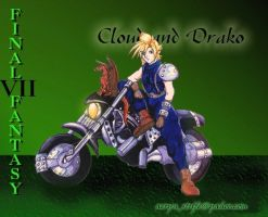 Cloud on his Motorcycle by furry-jackal