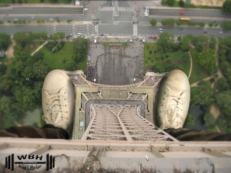 pov over effile tower by wannabehuge
