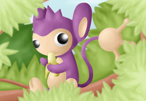 :Monkey Business: Aipom by endless-whispers