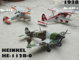 Heinkel He-112B-0 ready for the 1938 crisis by DingoPatagonico