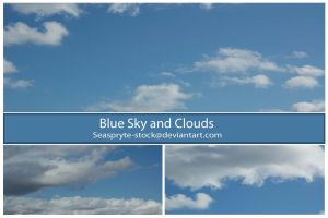 Seaspryte-stock - Blue sky and clouds by SeaSpryte-stock