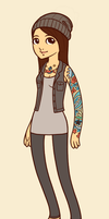 Hipster me :D by emobeast1990