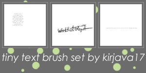 Tiny Text Brush Set by kirjava17