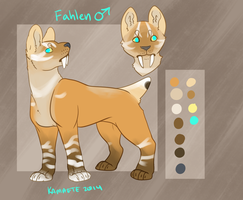 Fahlen Reference Sheet by Kama-ItaeteXIII