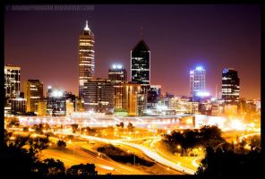 Perth At Night by SawnOffShogun
