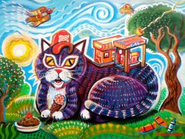 Gas Station Cat Candy Pie by hyronomous
