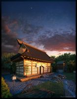 Samurai Temple by 3DSerge