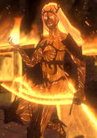 Meylena - The corrupted flame by Cha0slord