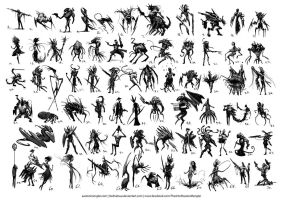 70 Thumbnail Sketches by AustenMengler
