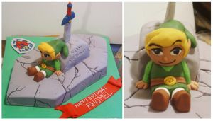 Lengend Of Zelda cake by Cakerific