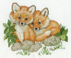 Baby Foxes by DawnMLC