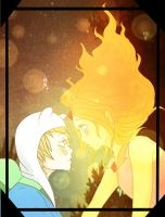 Finn x Flame Princess by oshirikun
