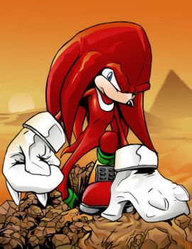 Knuckles Digs by BaneNascent