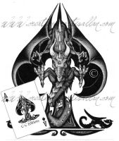 Dragon Ace of spade by ArtisAllan