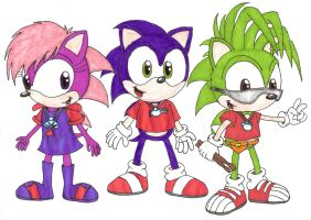 Sonic Underground Kids by Kimmy-the-Echidna