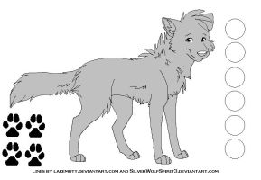 Free Canine Reference Lineart by lakemutt