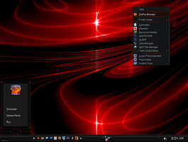 Win7 Red Roller Theme - Mini Start Menu by KeybrdCowboy