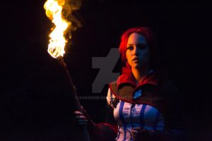 Triss Merigold The Witcher 2 cosplay by Gabardin
