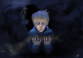 Jack Frost and Pitch by DreamyNatalie