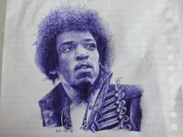 jimi hendrix by PtothefrigginB