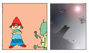 Parappa Vs Space aliens2 by unseendino