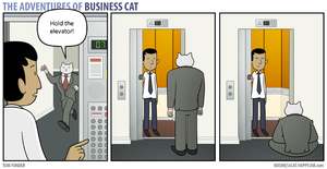 The Adventures of Business Cat - Elevator by tomfonder