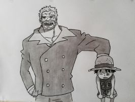 Garp 'n Luffy by Jbgombert
