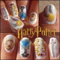 harry potter nails 2 by Ninails
