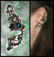 Ear cuff Lorien forest by JSjewelry