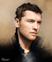 Sam Worthington Smudge by Alpari