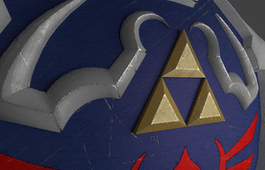3D Hylian Shield Preview by ShiniCaptain