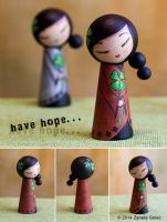 A kokeshi style doll HOPE 2 by ZanetaGc