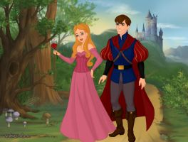 Princess Aurora and Prince Philip by Kailie2122