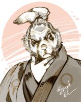 fast-sketch: Usagi Yojimbo by WittA