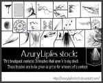 Exclusive brushes by AzurylipfesStock