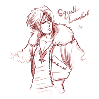 Squall Leonhart by KaywonnJuto