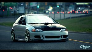 honda civic by orangenes