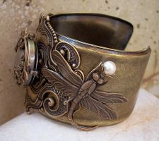 Dragonfly Cuff Watch -1 by Aranwen